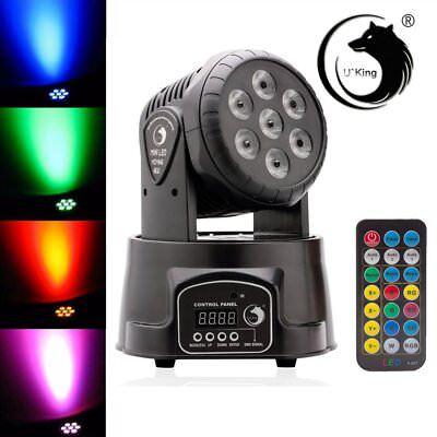 7 LED 105W RGBW Moving Head Light DMX-512 DJ Disco Party Stage Lighting US Ship