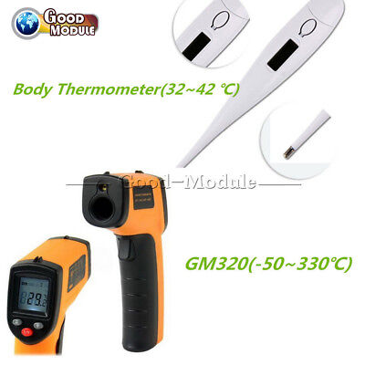 Non-contact Lcd Ir Infrared Laser Temperature Thermometer Thermometer Gunbady G