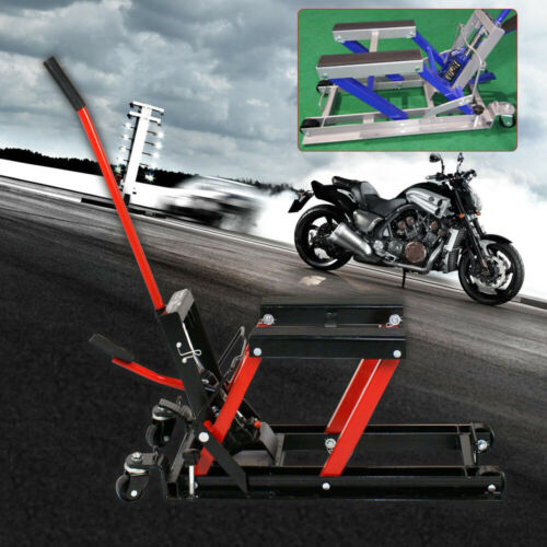680 kg hydraulic motorcycle assembly stand lift platform central stand black Top