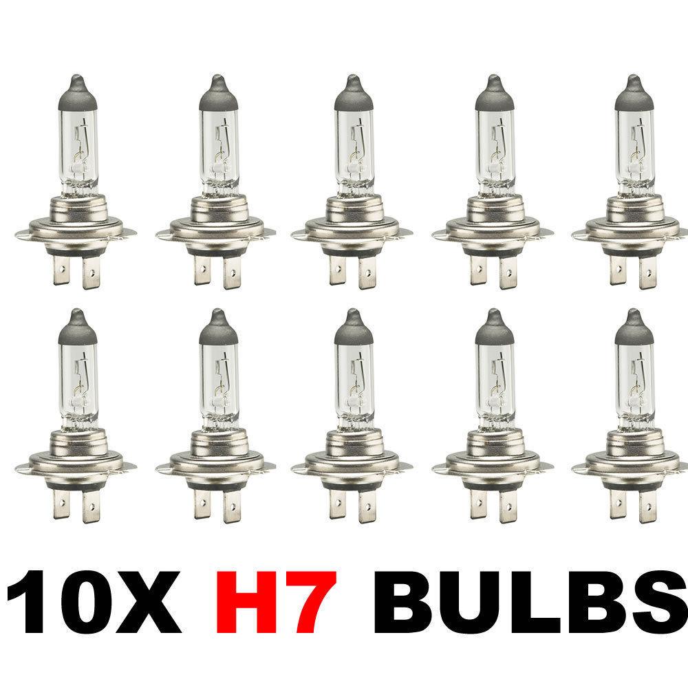 Car Parts - 10 x Brand New H7 499 HEADLAMP HEADLIGHT CAR BULBS 12v 55w (2 PIN) 477