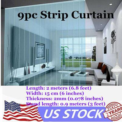 9 Pvc Clear Strip Curtain Door For Cooler Freezer Curtain Door Shops Thick 2mm