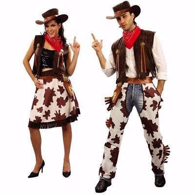 Halloween Costume Cowboy and Cowgirl Adult Western Dress Suit Carnival Cosplay - Cowgirl And Cowboy Costumes