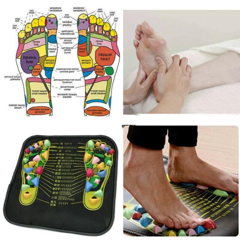 Reflexology Walk Stone Foot Leg Acupressure Massager Mat Pai
