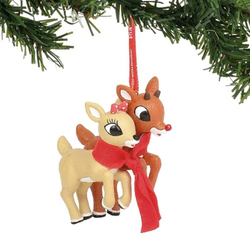 Department 56 Rudolph And Clarice Christmas Ornament 6004002 New