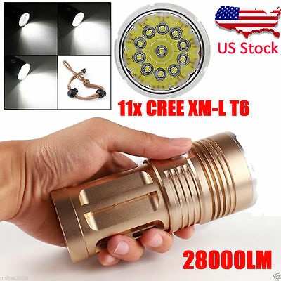 3000 Lumens 3 Modes XML XPE LED 18650 Flashlight Torch Lamp Powerful USPS
