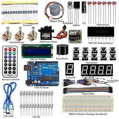 Usa Ultimate Starter Kit For Arduino Uno R3 Sensor Breadboard Lcd Led Resistors
