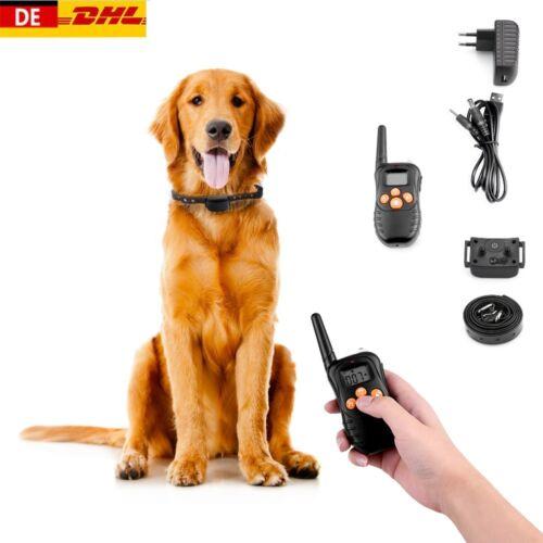 Anti-Bell Hundehalsband Hunde Erziehungshalsband Ton Vibrations Ferntrainer DE
