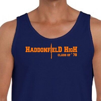Scary Movie Haddonfield High Halloween Friday the 13th Horror Men's Tank Top