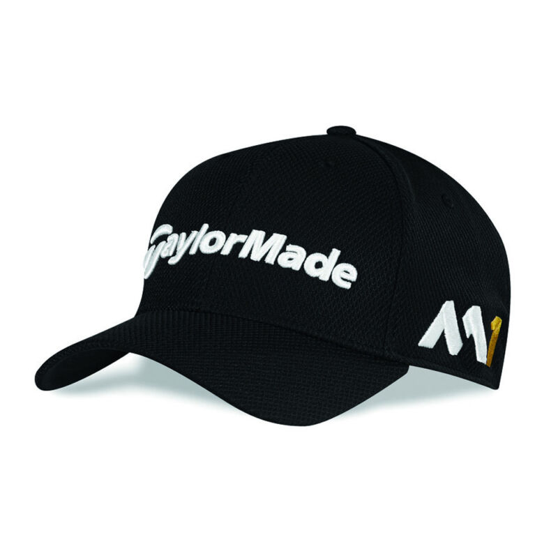 TaylorMade New Era Tour 39Thirty M1 TOUR EDITION Fitted Hat Black XS ... bb429cb2bf98