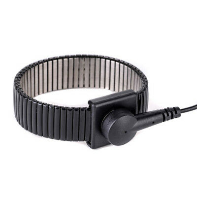 Anti-static ESD Adjustable Strap Grounding Bracelet Black Fashion Wrist Band -