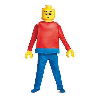 Boys Deluxe Lego Guy Halloween Costume (Guys Costume)