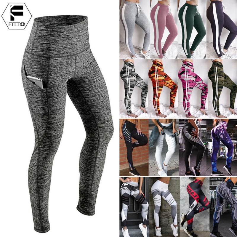 Womens Sports YOGA Workout Gym Fit Leggings Pants PUSH UP At