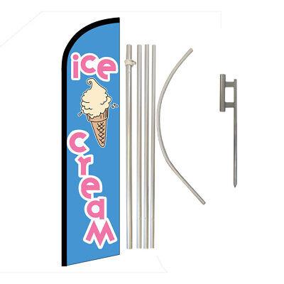 Ice Cream Full Curve Swooper Windless Flag Kit Advertising Flag Food Dessert