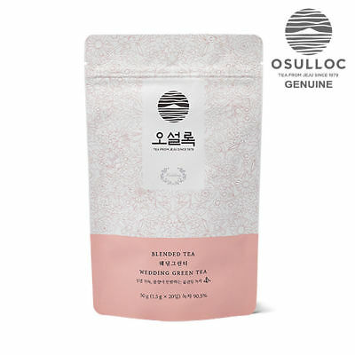 OSULLOC Wedding Green Tea 20ea Pyramid Tea Bags made in KOREA