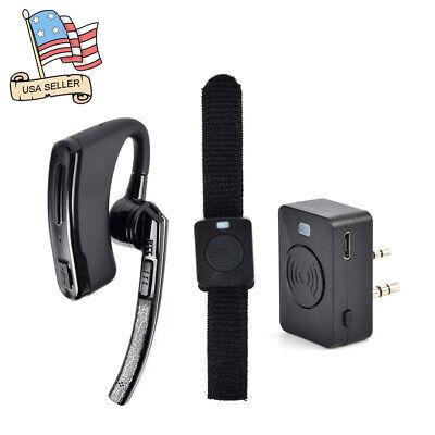 Bluetooth Wireless Earpiece/Headset Finger PTT For BaoFeng/Kenwood Walkie Talkie