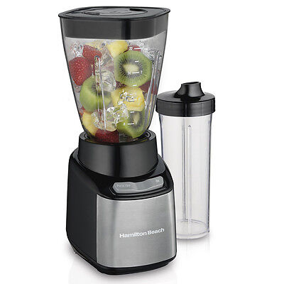 Hamilton Beach 52401 2 Jar Countertop Blender System w/ Single Serve Cup & Lid