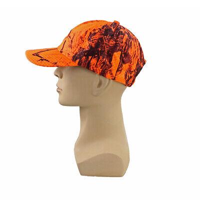 Ventilated Camouflage Orange Hat Free Size Outdoor Hunting Fishing Cap Men Women Orange Camouflage Cap