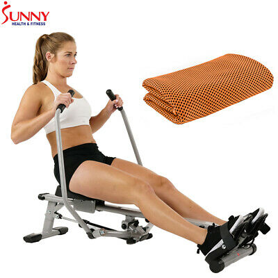 Sunny Health and Fitness Full Motion Rowing Machine Rower +