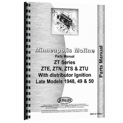 New Parts Manual Made For Minneapolis Moline Tractor Model Ztu