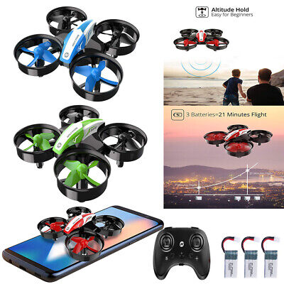 Holy Stone HS210 Drone for Beginner Kids Gift 360° 3D Flip Headless +3 Batteries
