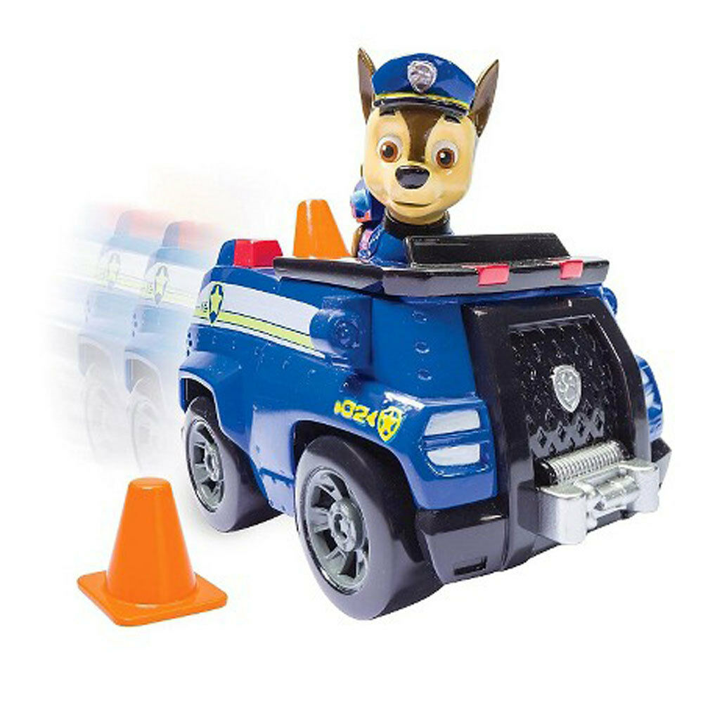 Paw Patrol Chase's Cruiser Vehicle Car w Mini Figure Playset
