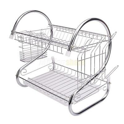 Kitchen Dish Cup Drying Rack Drainer Dryer Tray Cutlery Hold