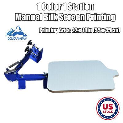 Us Stock Manual 1 Color 1 Station Silk Screen Printing For Diy Press T-shirt New
