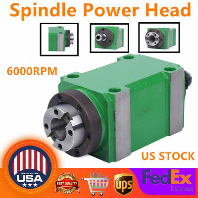 Bt30 Spindle Unit 724taper Power Head Waterproof Cnc Milling Power Head 6000rpm