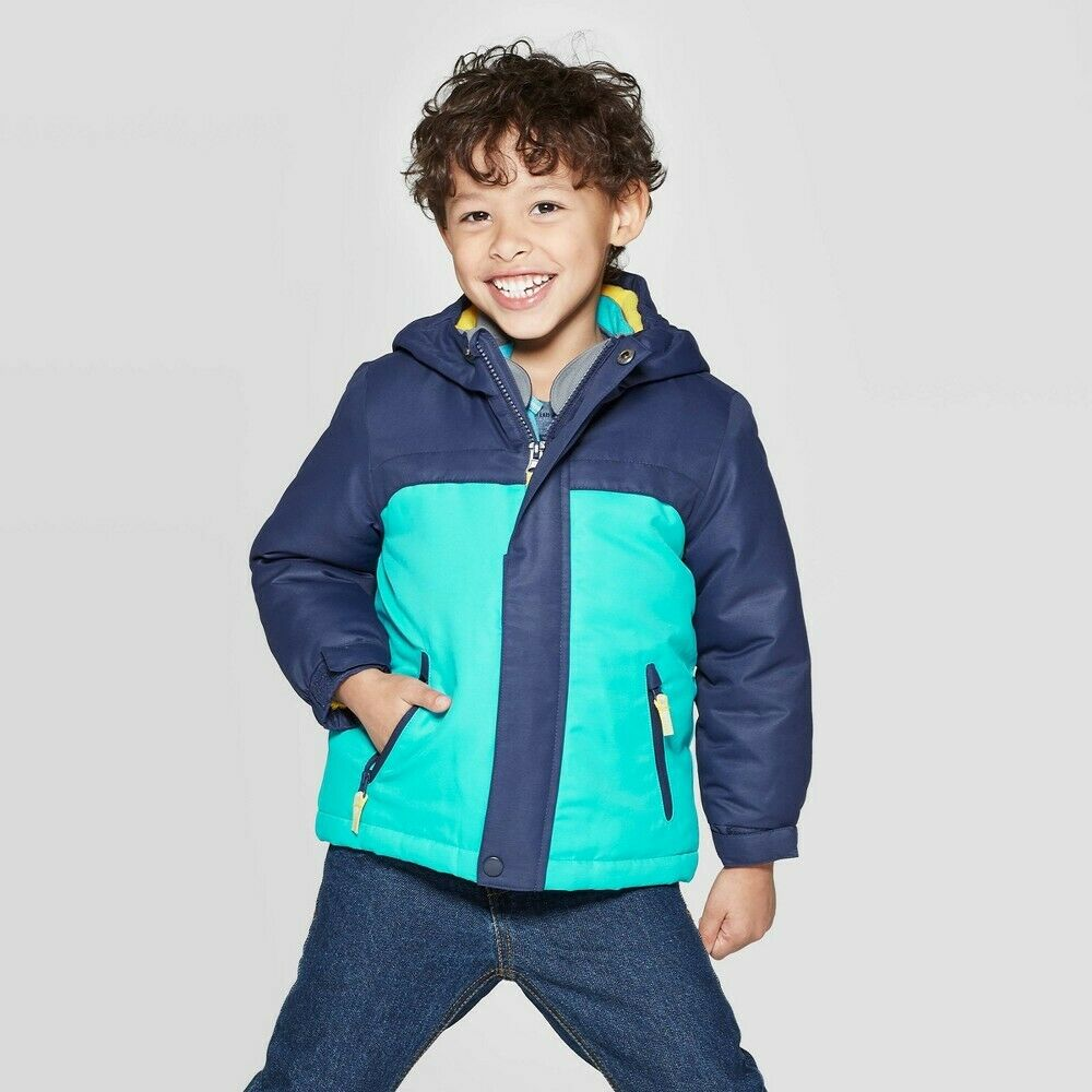 Toddler Boys' Solid 3-in-1 Jacket – Cat & Jack Navy (Blue) 18M Baby