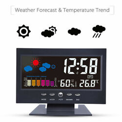 LED Digital Alarm Clock Loud Time Projector Weather Thermometer Snooze LCD Color