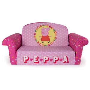 Superieur Marshmallow Furniture Childrenu0027s 2 In 1 Flip Open Foam Sofa Peppa Pig By  Spin