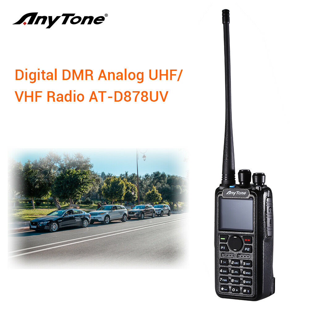 Details about AnyTone AT-D878UV Tier I II GPS Dual Band DMR/Analog Radio w/  Programming Cable