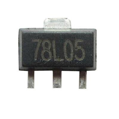 100pcs 78l05 L78l05 7805 Voltage Regulator 5v 100ma Sot-89 Smd