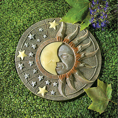 CELESTIAL GLOW IN THE DARK STEP STONE YARD DECOR~39697