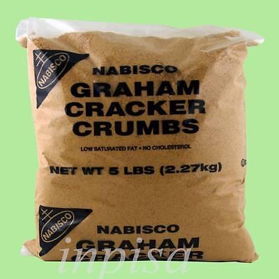 CRACKER CRUMBS 1 Bag x 5 lbs NABISCO GRAHAM CRACKER CRUMBS FOR BAKING PIE CRUST (Graham Cracker Crumb Pie)
