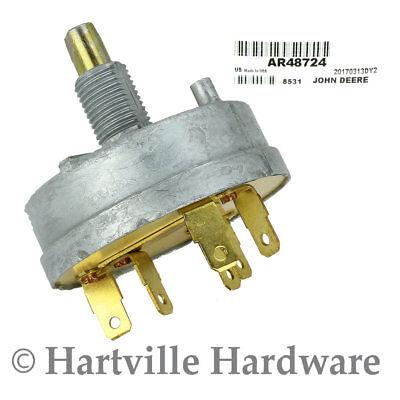 John Deere Original Equipment Rotary Light Switch Ar48724