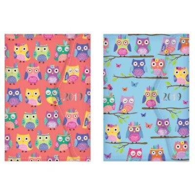 2019 A6 Organiser Owl Design With Magnetic Closure