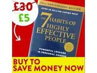 7 Habits of Highly Effective People - FREE DELIVERY - Success Book - Save £25 WHEN YOU BUY TODAY