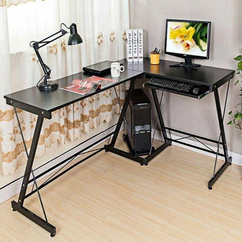 l shaped desk corner computer gaming laptop