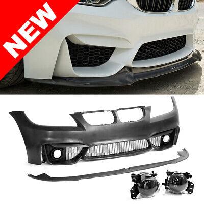 F80 M3 Style Bumper w/ Clear Fogs For 2009-2011 BMW E90/E91 3-Series covid 19 (Oem Style Front Bumper coronavirus)