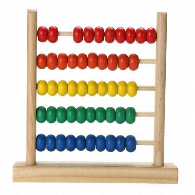 Colorful Wooden Abacus Math Toy Kids Children Number Counting Montessori Toys