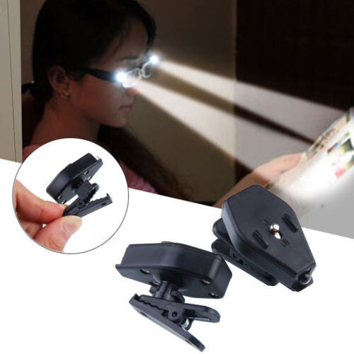 Portable Clip On Eye Glasses Light Magnifier Reading LED Magnify Glass Handfree