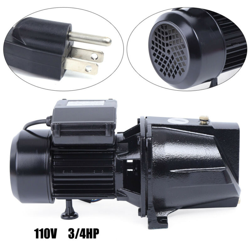 3/4 HP Shallow Well Jet Pump with Pressure Switch Heavy Duty Jet Pump 550W 110V