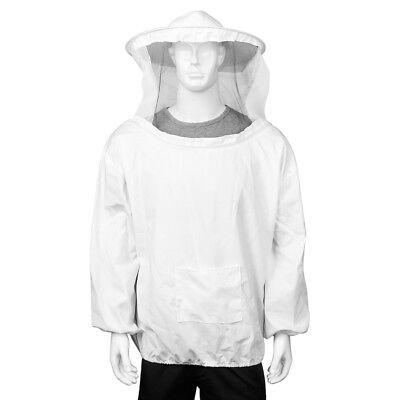 Beekeeping Jacket Bee Keeping Suit Pull Over Hat Sleeve W Protective Veil Smock
