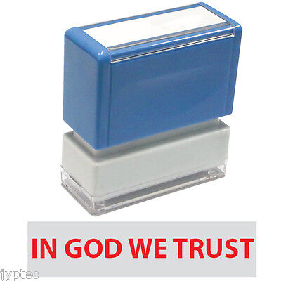 Jyp Pa1040 Pre-inked Rubber Stamp With In God We Trust