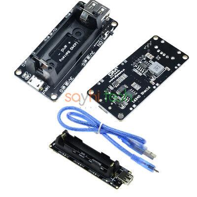 Micro Usb 5v 1634018650 Lithium Battery Shield Esp8266 Esp32 Holder Module