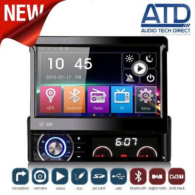 Individual din Navegador Radio de Coche Plegable Fuera Bluetooth Lenguado GPS CD
