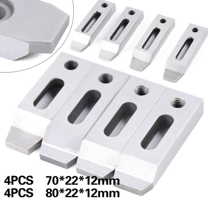 4pcs CNC Wire EDM Stainless Jig Holder Fixture Board Tool Clamping Leveling M8