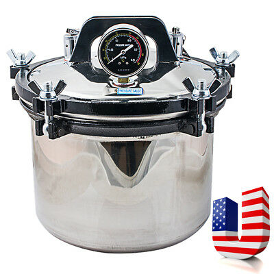 8l Dental Steam Autoclave Sterilizer Sterilization Stainless Steel High Pressure