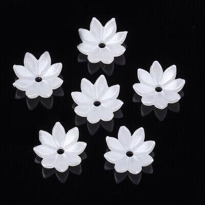 enkelche 10x10mm Elfenbein Kelche Blume Perlen Spacer - 1416 (Elfenbein Perlen)